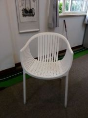 White Plastic Outdoor Chairs