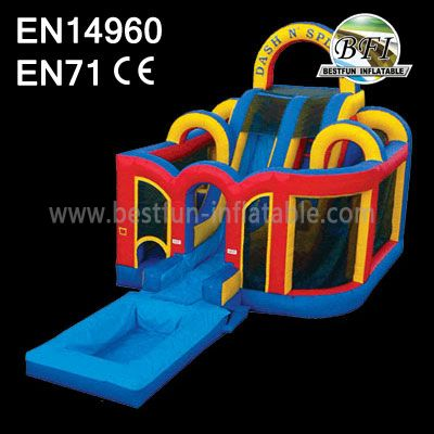 InflatablebounceCastle combo with slide