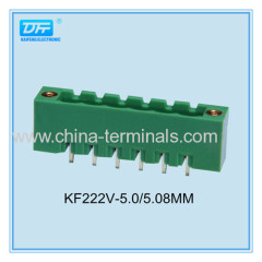 15A 300V 5.0/5.08mm pitch electric pluggable terminal block