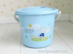 Heat transfer film for plastic bucket lid handle