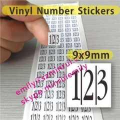 Custom PET Vinyl Number Stickers