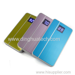 Apple phone style mobile power supply with double usb output & led display screen;