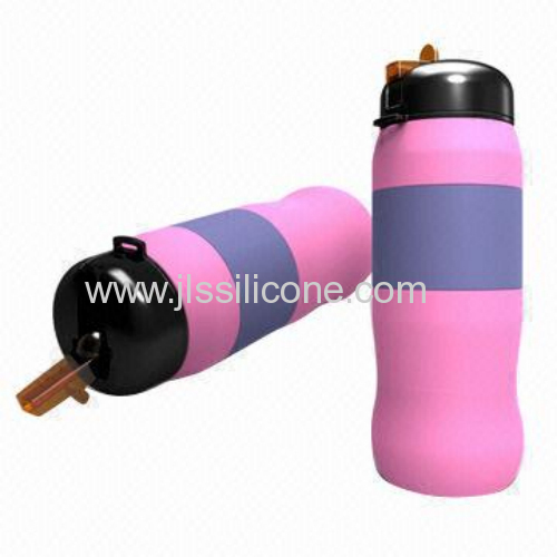 perfect design flexible silicone sports water bottle
