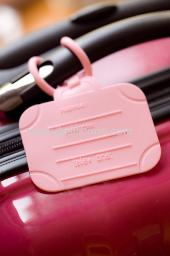 Fashionable travel silicone luggage mark, silicone luggage tag