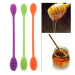 Lovely Smiling Face Silicone Honey Spoon