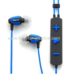 Klipsch Image S4i Rugged Earbud In Ear Headphone Blue Black