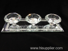 Crystal three cups candle holder tea light holder crystal gifts candle cup