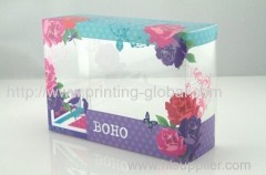 Heat transfer film for cosmetic packing box