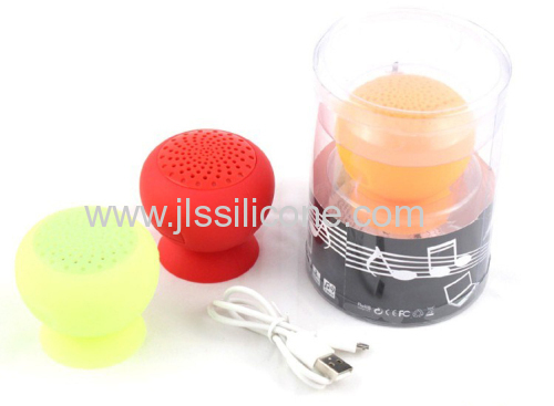 Multifunction Mushroom shape bluetooth speaker with silicone suction cups