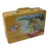Rectangular handle tin box
