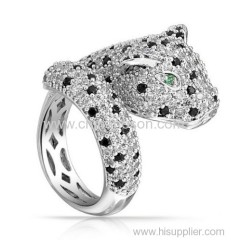 2014 styke newest tiger CZ stones jewelry rings