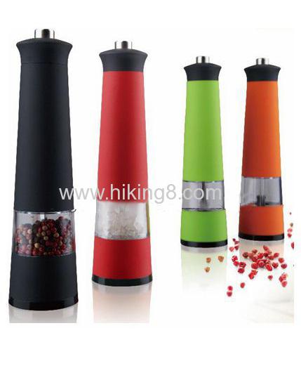 plastic electric salt & pepper mill grinder