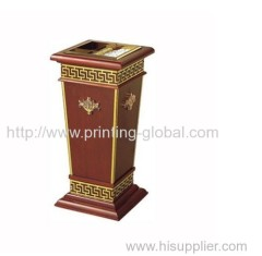 Heat transfer film for wooden garbage can