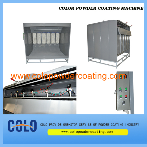 six filters recovery system powder coating booth