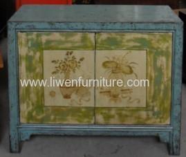 Antiques mongolia cabinet 2 doors
