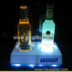 LED white acrylic wine holder display