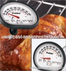 Dual Meat and Oven Thermometer with Silicone Grip - Includes USDA food chart