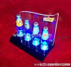 LED bottle Beer acrylic rack In 4 Level