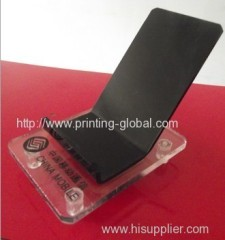 Heat transfer film for phones display stands