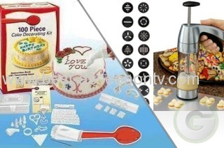 100 Piece Cake Decorating Frosting Icing Decorating With Storage Box DIY Kit Set