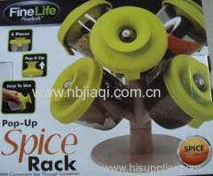 plastic 6 container spice rack as seen on TV/Revolving spice rock/spice kock set/spice jar