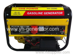 Dual voltage gasoline generator set
