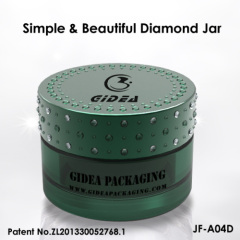 Acrylic diamond cap jar