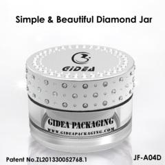 diamond cap acrylic cosmetic jar