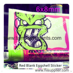Destructible Egg Shell Sticker with Red Borders for Cool Handwriting
