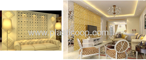 GLM8019 leather wall panel instead of 3d board and wall paper
