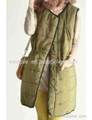 Womens Warm v-neck quality Vest cotton-padded jacket coat