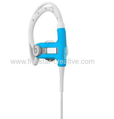 Beats PowerBeats In-Ear Sport Headphones Neon Blue With In-line Mic and Controls