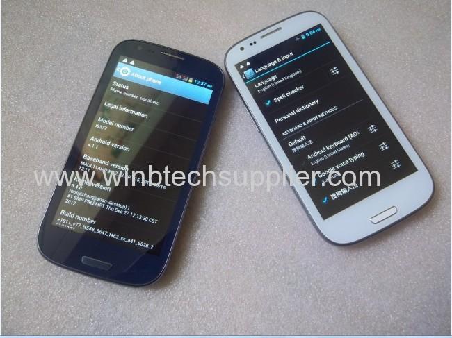 4.7 4.8inch dual core dual sim smart phone gsm wcdma dual sim card i9377 haipai smart phone