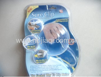 Magnifier nail clipper/magnifying nail clipper