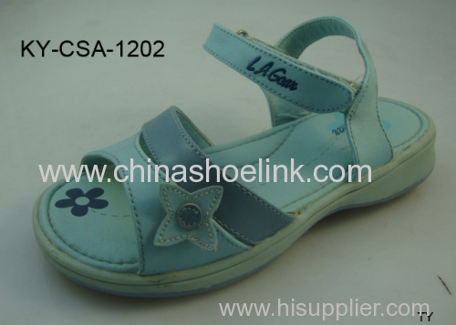 Blue girls summer sandals