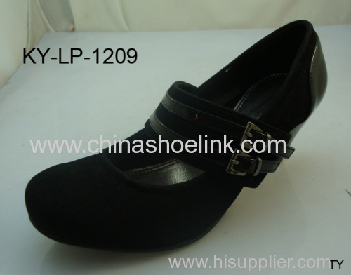 Best ladies fashion dress shoes wedges exporter