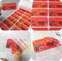 Red Tamper-Proof VOID Stickers