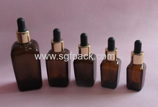 glass bottle for essential oil brown bottle square glass bottle GSQ-15ml 20ml 30ml 50ml 100ml