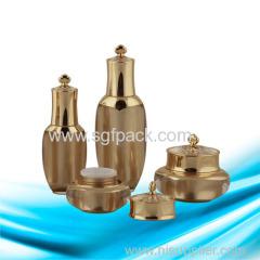 Bottiglia e vaso della corona Bottiglia di lozione e vaso della crema di vendita calda del pacchetto cosmetico acrilico