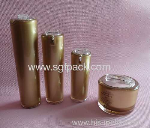 hot sale acrylic package new style cream jar and lotion bottle new product trial cosmetic package acrylic package