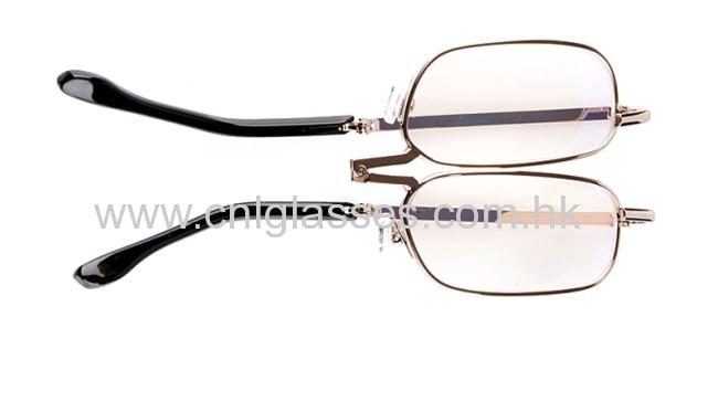 New optical metal frame designer foldingreading glasses