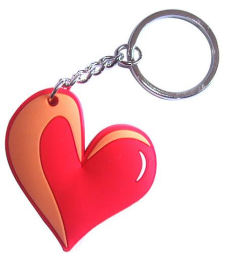 red heart shape pvc keychain from china jinyi m