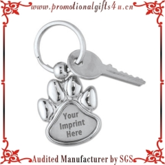Paw Shaped Laser-Engraved Key Tag for Promotion