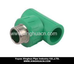 ppr pipe tee with male thread