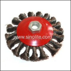 Twist Wire Bevel Brush Diameter: 90mm,100mm, 115mm; T:13mm 20mm 27.5mm Fill Type: 0.35mm 0.5mm B:M10 M14 M16
