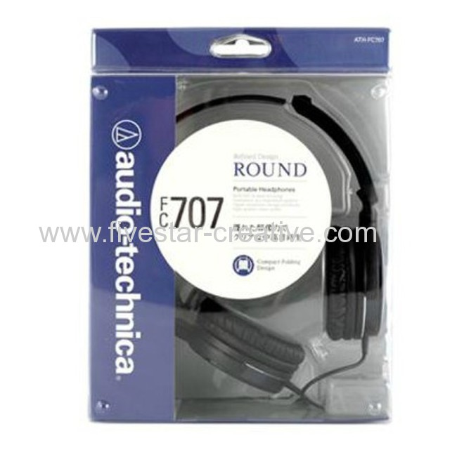 Audio Technica ATH-FC707 Portable Fold-up Closed-Back Dynamic Headphones Black