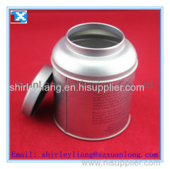 Round Metal Tin Can For Tea