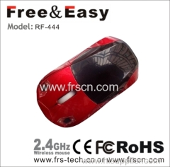 Wine Red racing car wireless mouse
