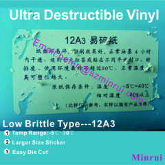 cold weather use ultra destructible vinyl material