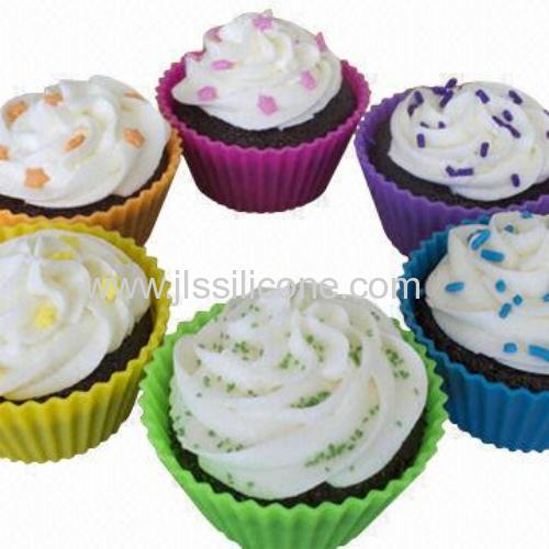 Fashionable silicone cupcake baking mould